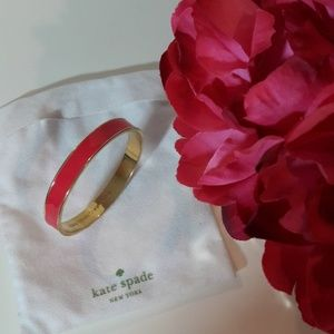 Kate Spade pink and gold lacquer bracelet